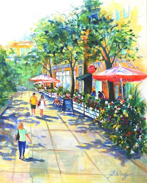 Betty Wong - Outdoor Cafe Toronto