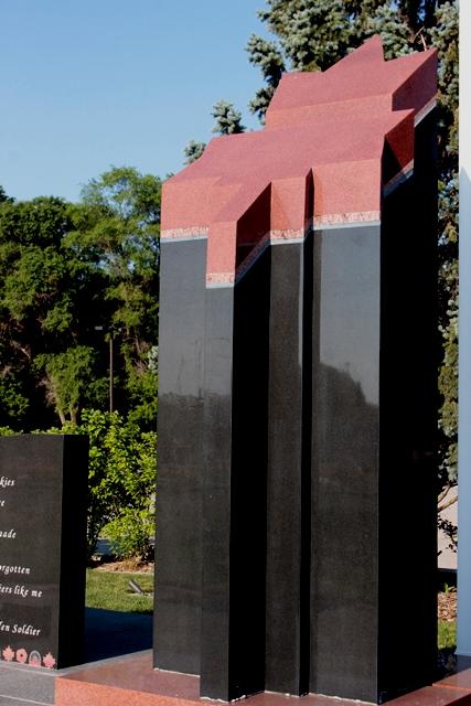 Fallen Soldier Statue at Vishnu Mandir Peace Park