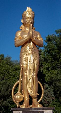 Lord Hanuman Statue Vishnu Mandir