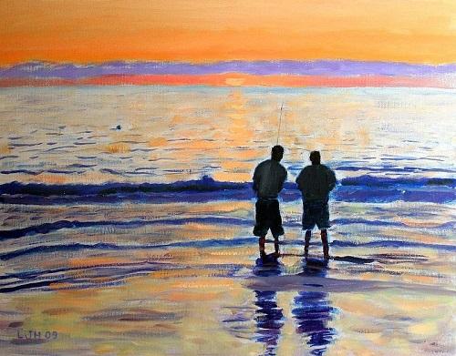 Larry Herscovitch - Sunset Fishermen