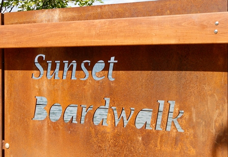 Sunset Beach Board Walk Sign