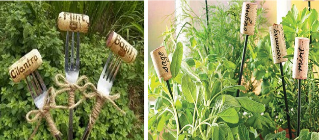Corks to label herbs