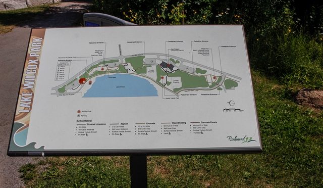 On site map of Lake Wilcox Park