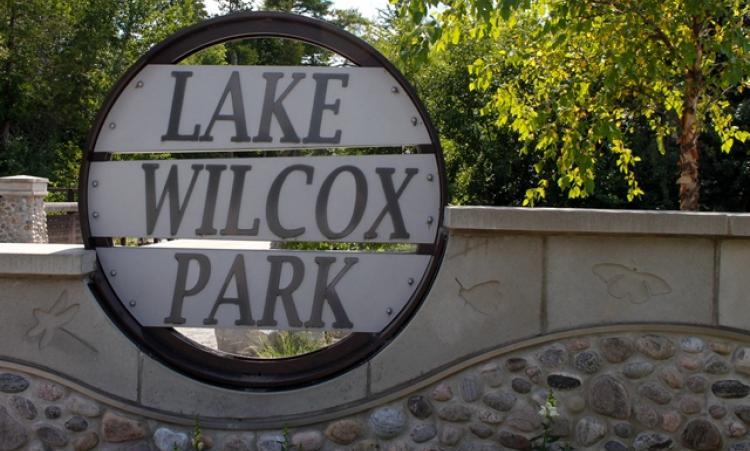 Lake Wilcox Park Sign