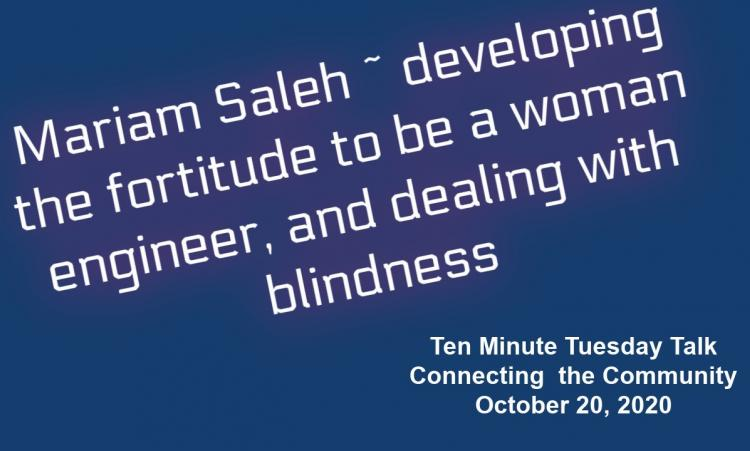Mariam Saleh - talks at Connecting the Community
