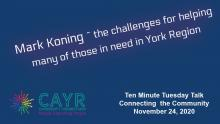 Mark Koning - CAYR Community Connections