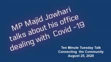 MP Majid Jowhari TMTT at CTC Aug 25,2020