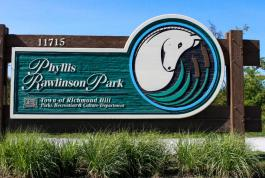 Phyllis Rawlinson Park Front Sign